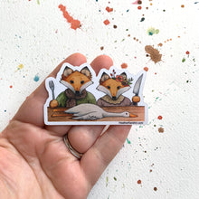 Load image into Gallery viewer, The Fox and His Wife Vinyl Sticker, 3 inch, FREE SHIPPING
