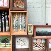 Load image into Gallery viewer, SALE Deeply Rooted - Original Watercolor Box Painting, Trees Collection