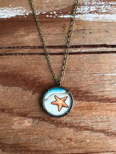 Load image into Gallery viewer, Starfish Original Watercolor Hand Painted Necklace Pendant