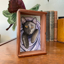 Load image into Gallery viewer, CUSTOM Original Watercolor Box Painting, Pet Portrait, Dog Portrait