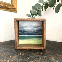 Load image into Gallery viewer, 7. Hope - Original Watercolor Box Painting, Rain Landscape Art