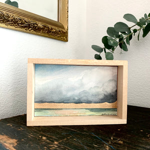 3. Glory - Original Watercolor Box Painting, Rain Landscape Art