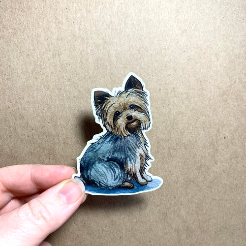 Yorkie Dog Vinyl Stickers, 3 inch, Doggos Sticker, Yorkshire Terrier Art