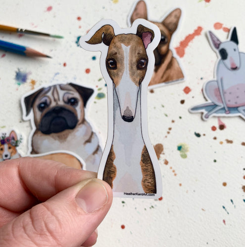 Greyhound Dog Vinyl Stickers, 3 inch, Doggos Sticker, FREE SHIPPING
