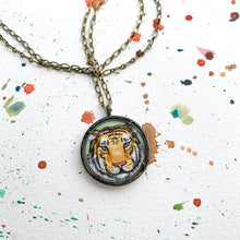 Load image into Gallery viewer, Tiger Face, Original Hand Painted Necklace, Tiger Art