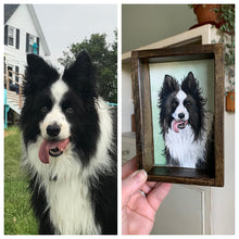 Load image into Gallery viewer, CUSTOM Original Watercolor Box Painting, Pet Portrait or Other Custom Order