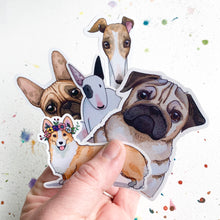 Load image into Gallery viewer, Pug Dog Vinyl Stickers, 3 inch, Doggos Sticker, FREE SHIPPING
