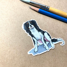 Load image into Gallery viewer, King Charles Spaniel Dog Vinyl Stickers, 3 inch, Doggos Sticker, FREE SHIPPING