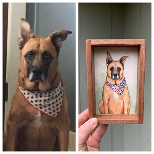 CUSTOM Original Watercolor Box Painting, Pet Portrait or Other Custom Order