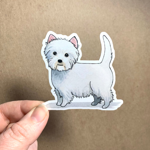 West Highland White / Westie Dog Vinyl Stickers, 3 inch, Doggos Sticker, Art Sticker