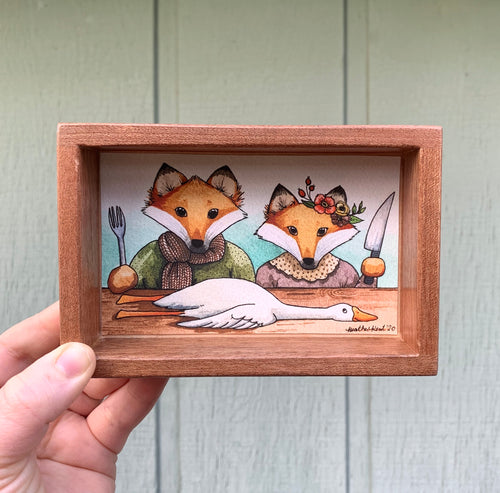 The Fox and His Wife, Limited Edition *Fine Art Print* - Box Painting