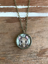 Load image into Gallery viewer, Mouse Original Hand Painted Necklace, Little Brown Mouse Illustration