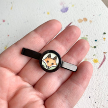 Load image into Gallery viewer, Fox Tie Clip, Original Hand Painted Tie Clip, unique gifts for men
