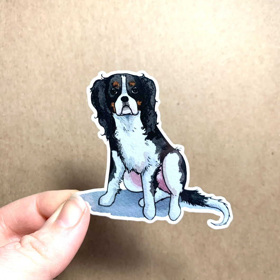 King Charles Spaniel Dog Vinyl Stickers, 3 inch, Doggos Sticker, FREE SHIPPING