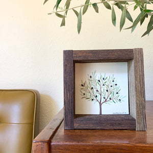 Olive Tree - Original Watercolor Box Painting, Trees Collection