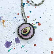 Load image into Gallery viewer, Avocado Love Original Watercolor Hand Painted Necklace