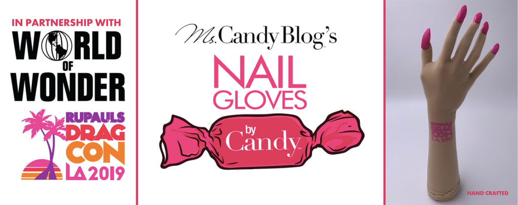 RuPaul's Drag Con Nail Glove partnership by World of Wonder & Nail Gloves by Candy