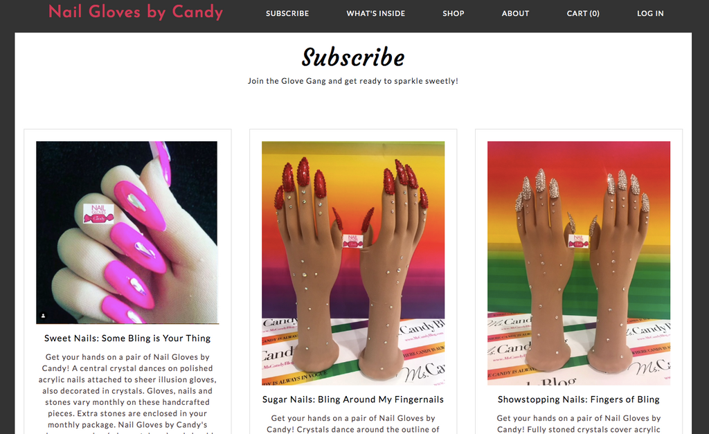 Subscription Box of Nail Gloves by Candy Now Available