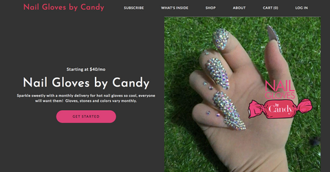 Subscription Box of Nail Gloves by Candy on Cratejoy