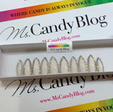 Stiletto Light Pink Nails with AB Rhinestones: Press On Nails by Ms. Candy Blog: First Blush