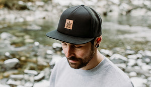 Unisex Ball Cap with leather patch