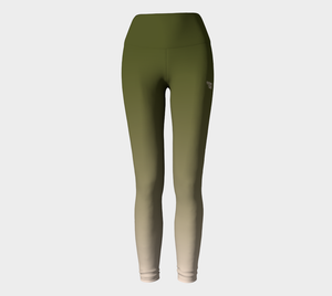 Green to Nude Ombre Leggings