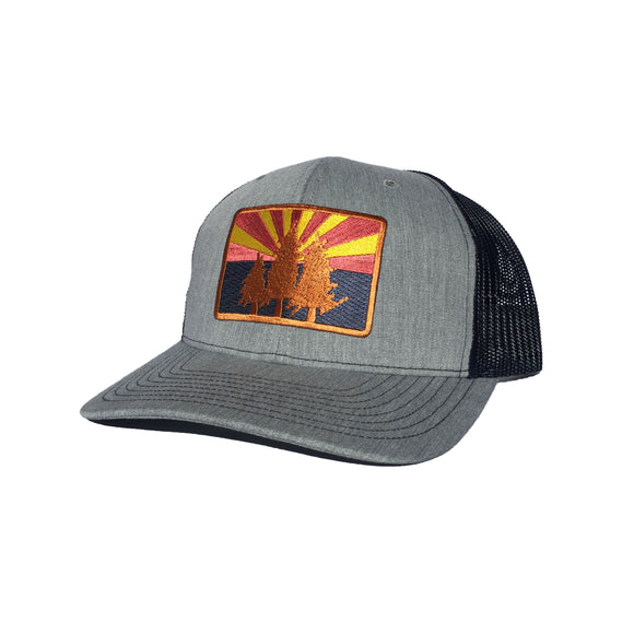 The AZ Pines Curved Trucker - Iconic Arizona