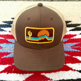 The Retrozona Curved Brim Trucker - Iconic Arizona