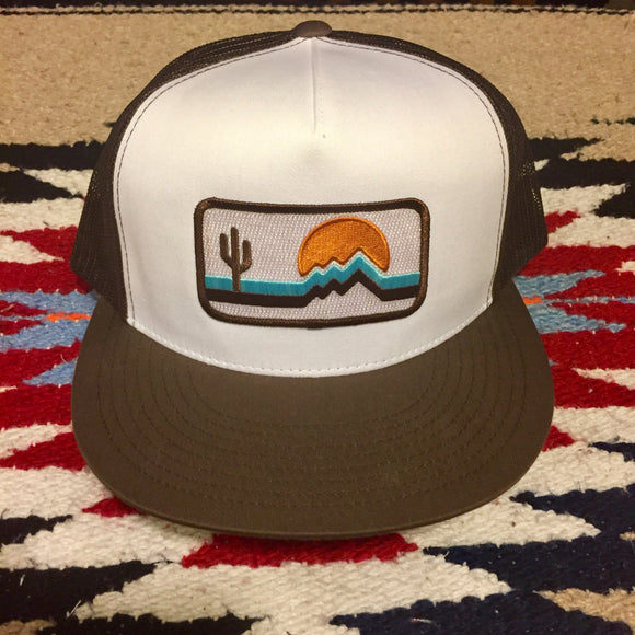 The Retrozona Flat Brim Trucker - Iconic Arizona