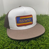 The AZ Stripes Flat Brim Trucker
