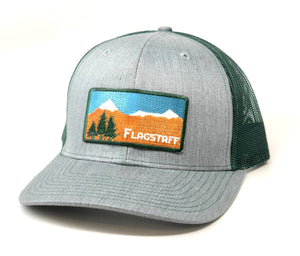 The Flagstaff Curved Trucker - Iconic Arizona