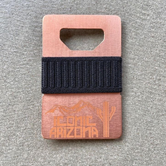 Iconic Spine Wallet - Logo Copper - Iconic Arizona