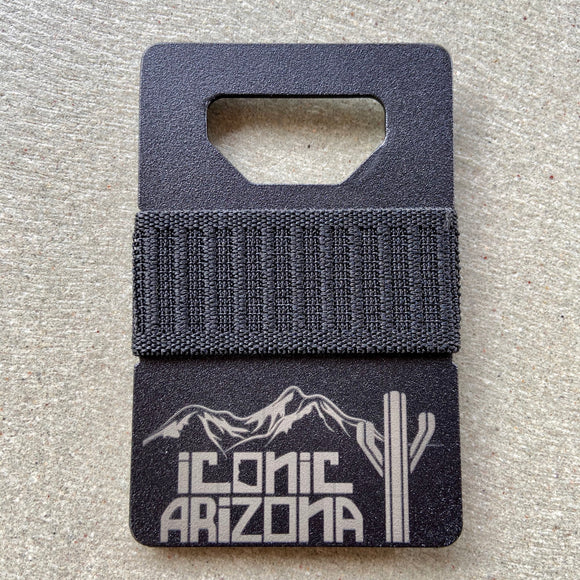 Iconic Spine Wallet - Logo Matte Titanium - Iconic Arizona