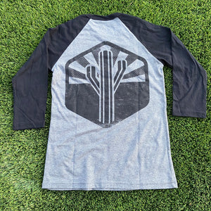 The Sentinel Baseball Tee - Heather/Black - Iconic Arizona