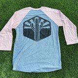 The Sentinel Baseball Tee - Heather/Pink - Iconic Arizona
