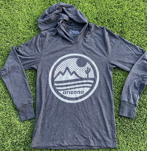 The Sonoran Hoodie - Black/White - Iconic Arizona