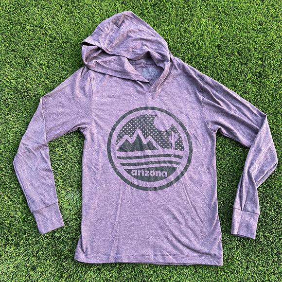 The Sonoran Hoodie - Purple/Black - Iconic Arizona