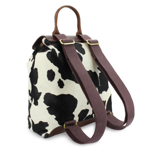 Gertie Backpack - Black Cow Hair On Hide