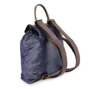 Gertie Backpack - Blue Paisley Sparkle