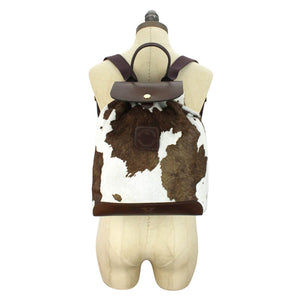 Gertie Backpack - Brown Cow Hair On Hide
