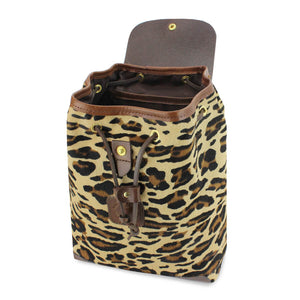Gertie Backpack - Leopard Hair On Hide