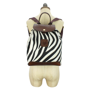 Gertie Backpack - Zebra Hair On Hide