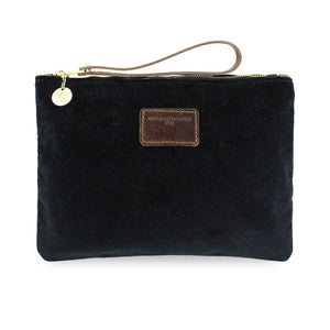 Charlotte Oversized Clutch - Black Velvet