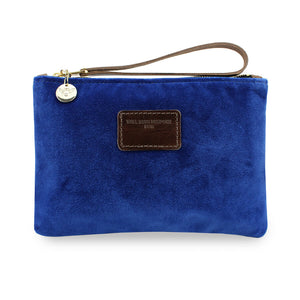 Frances Clutch - Blue Velvet