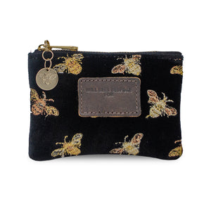Jane Coin Purse - Limited Edition Bees on Black Velvet