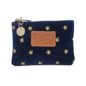 Jane Coin Purse - Gold Stars on Navy Velvet