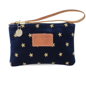 Ada Mini Clutch - Gold Stars on Navy Velvet
