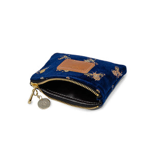 Jane Coin Purse - Signature Bees on Navy Velvet