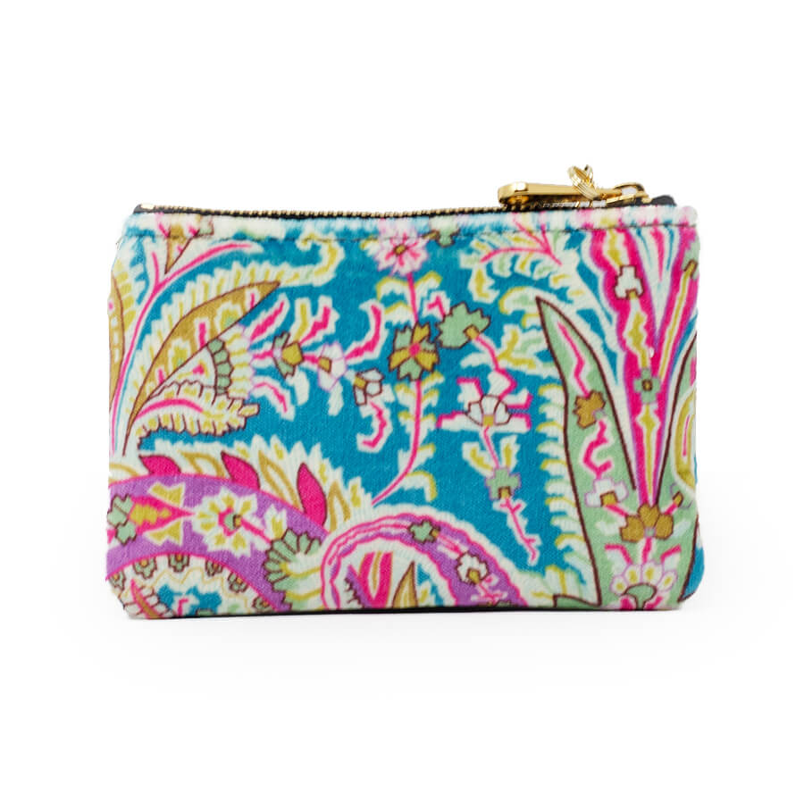 Jane Coin Purse - Liberty Felix Raison Lagoon - Will Bees Bespoke