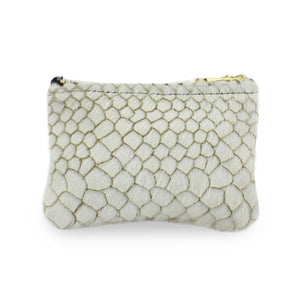Jane Coin Purse - White Anaconda